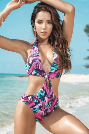 Caribbean Nights Cutout Monokini