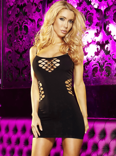 Cash Cage Mini Dress