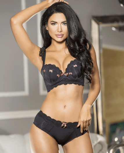 Chic Black Push Up Bra & Panty Set
