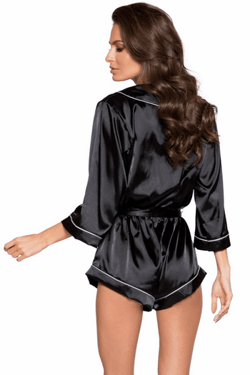 Chic Cozy Satin Romper