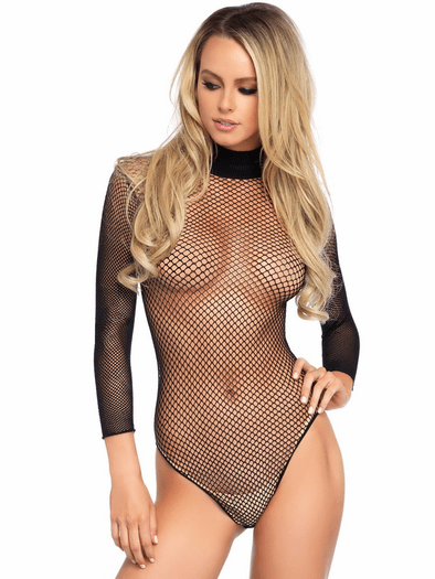 Come & Get Some Fishnet Teddy