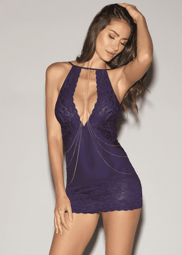 Confess Your Love Lace Chemise & Thong Set