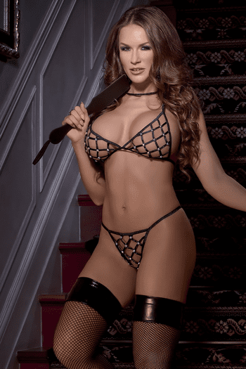 Criss Cross Bra & G-String Set