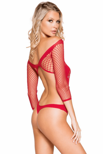 Crisscross Crotchless Teddy Bodystocking