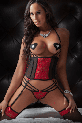 Cropped Lace Corset & Panty Set
