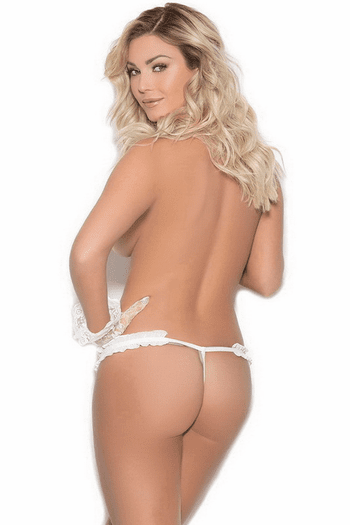 Crotchless Pearl G-String