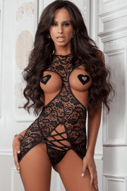 Cupless Lace Chemise Set