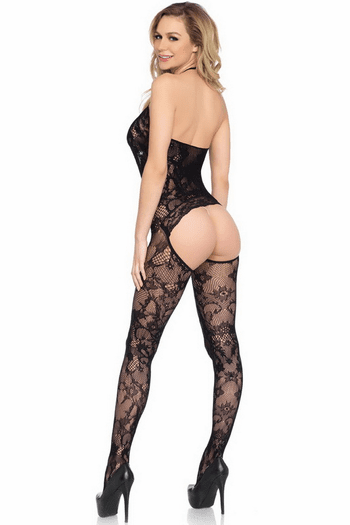 Cut Out Lace Bodystocking