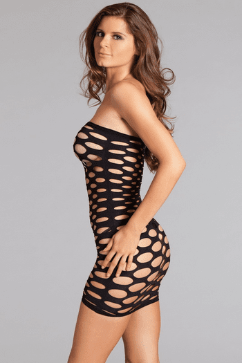 Cut Out Strapless Chemise