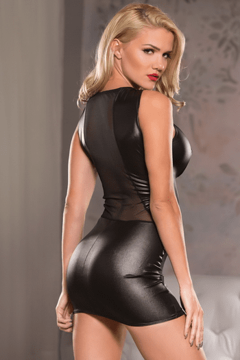 Cutaway Black Mini Dress