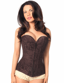 Dark Brown Bold Lace Up Full Bust Corset