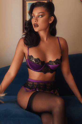 Dark Desires Embroidered Bra Set