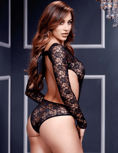 Dark Desires Lace Teddy