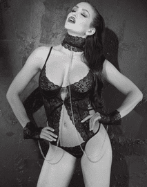 Dark Temptress Teddy & Collar Set