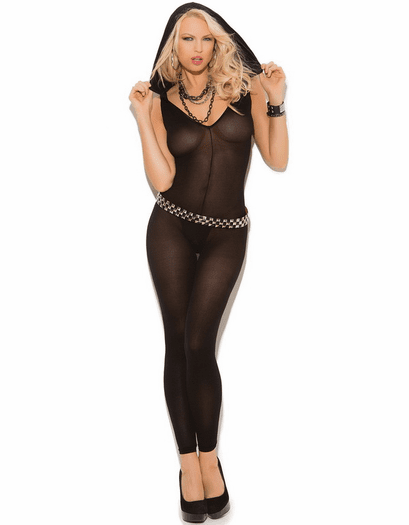 Darkest Love Affair Hooded Open Crotch Bodystocking