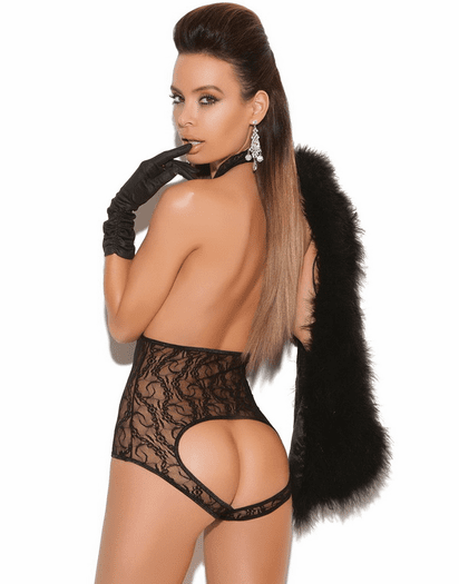 Darling Diva Sexy Lace Open Bust & Back Teddy