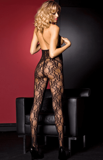 Darling Keyhole Lace Crotchless Bodystocking