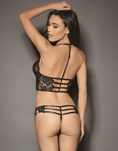 Darling Romance Cropped Bustier & Thong Set