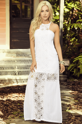 Delicate Crochet Maxi Dress
