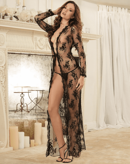 Delicate Obsession Lace Gown & G String Set