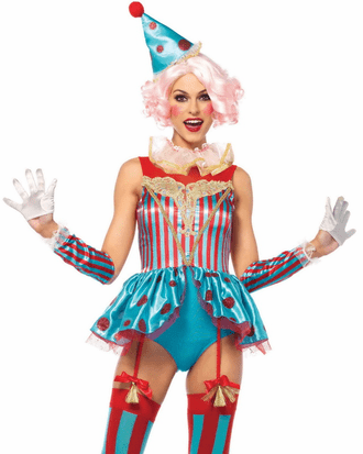 Delightful Circus Clown Costume
