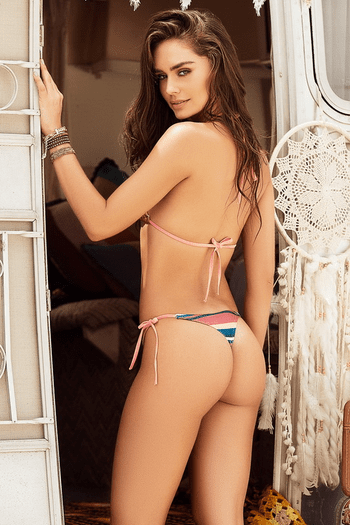 Desert Dusk Striped Bikini