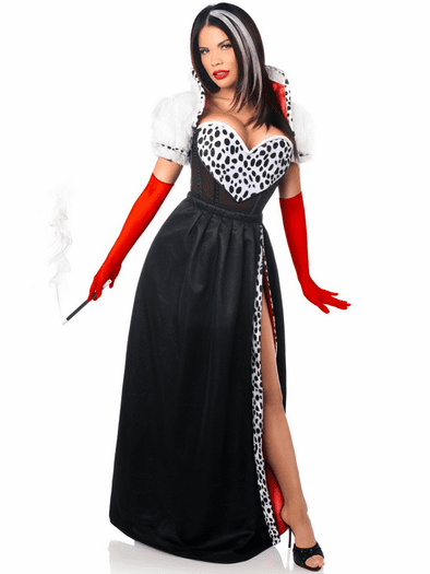devious cruella de vil costume spicy lingerie. Black Bedroom Furniture Sets. Home Design Ideas