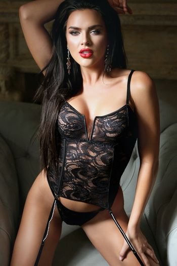 Diamond is Forever Black Lace Bustier