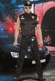 Dirty Cop Officer Ed Banger Men's Costume