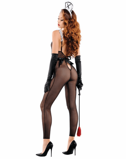 Dirty French Maid Bodystocking Bedroom Costume