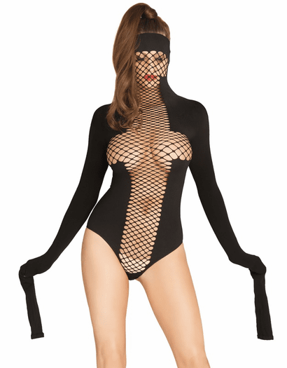 Dirty Girl Masked Fetish Teddy & Restraint Sleeves
