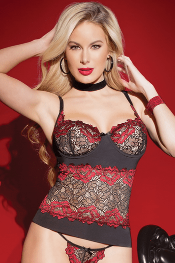 Distorted Love Lace Bustier