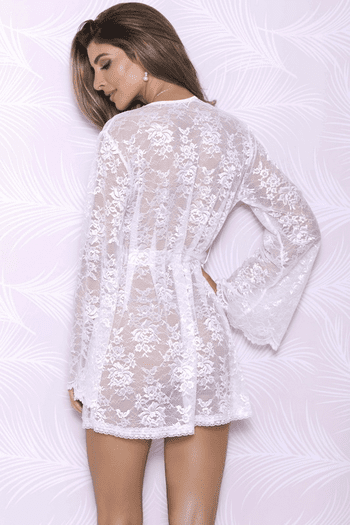 Down On Your Knee Lace Robe