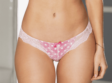 Flirty Feeling Lace & Polka Dot Thong