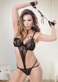 Strappy Lace Teddy Set