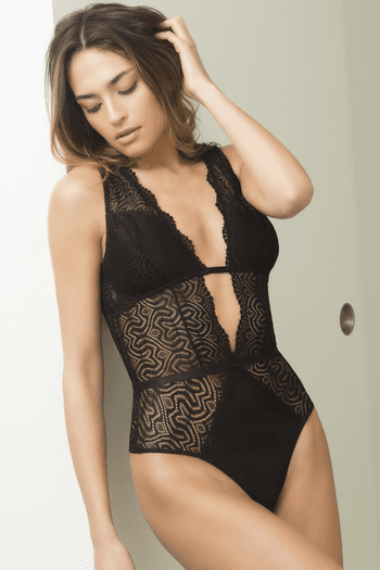 Edgy Lace Teddy