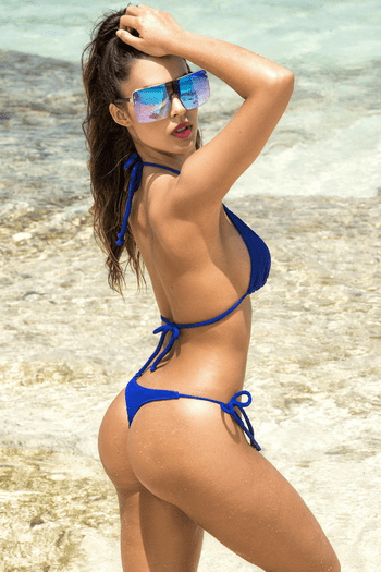 Electric Blue Triangle Bikini Set