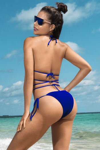 Electric Blue Wrap Around Bikini Set