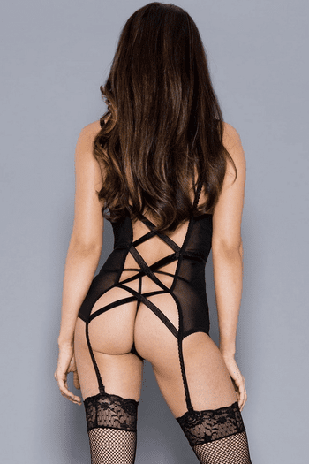 Elegant But Sexy Lace Gartered Chemise