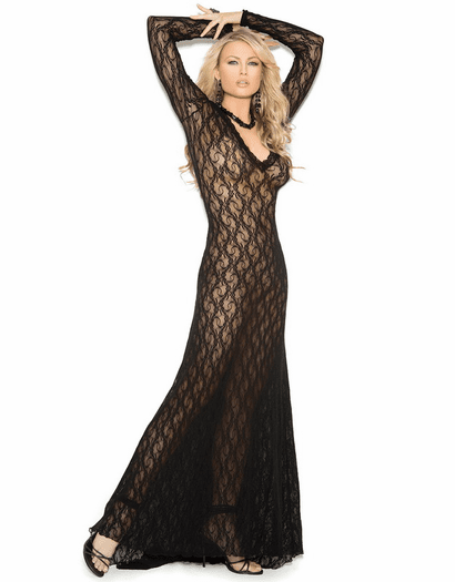 Elegant Vision Sexy Lace Gown