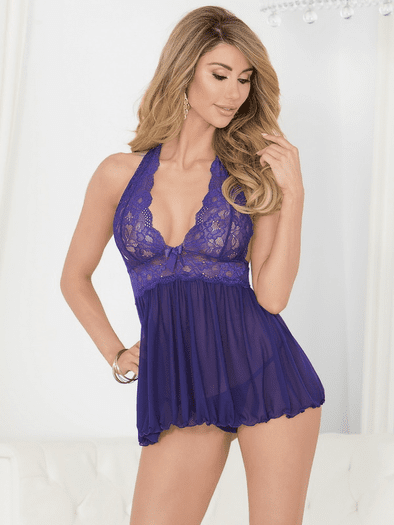 Embrace Your Love Lace Babydoll & Thong Set
