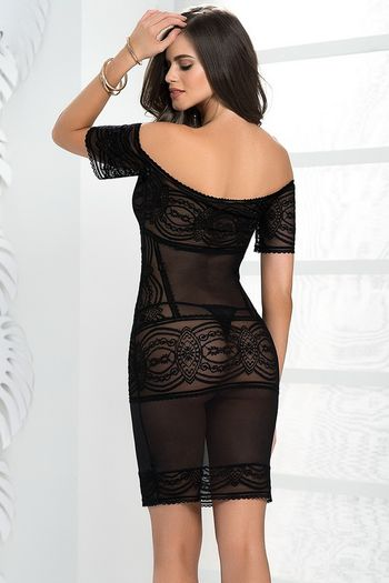 Embroidered Sheer Lingerie Dress