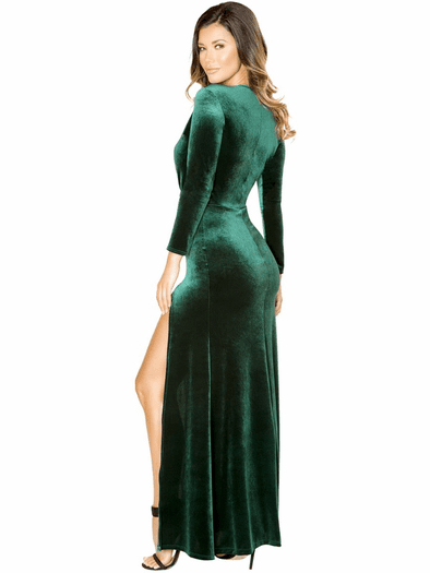 Emerald Long Sleeve Maxi Dress
