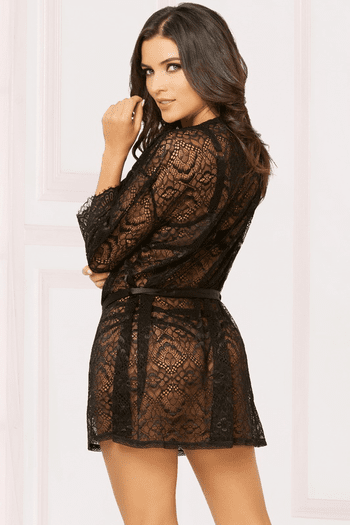 Enchanting Lace Robe