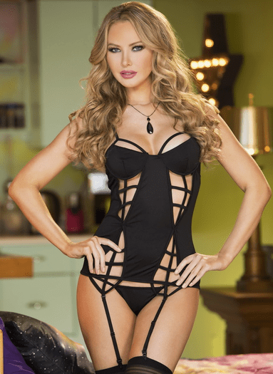 Endless Love Bustier & Stockings Set