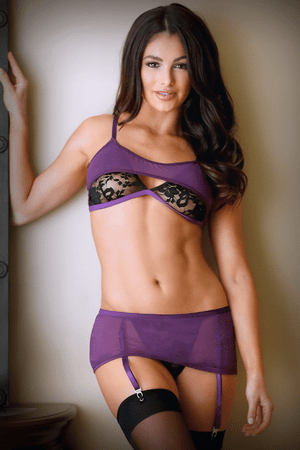 Erica Bralette & Skirted Crotchless Panty