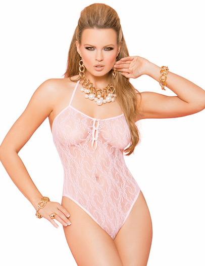 Everlasting Love Sexy Lace Teddy & Stockings Set