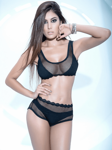 Exotic Fishnet Bra & Panty Set