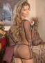 Exposed Fishnet Arousal Sexy Chemise