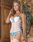 Exposed Love Lace Bustier & Thong Set